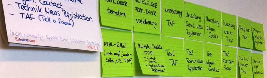 User Story mit einzeln platzierten Tasks